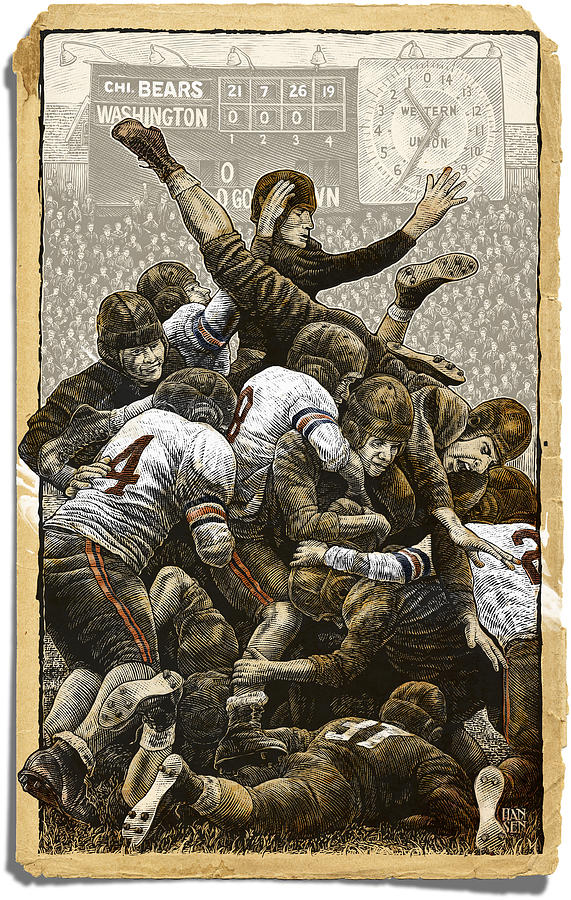 1940 Chicago Bears by Clint Hansen
