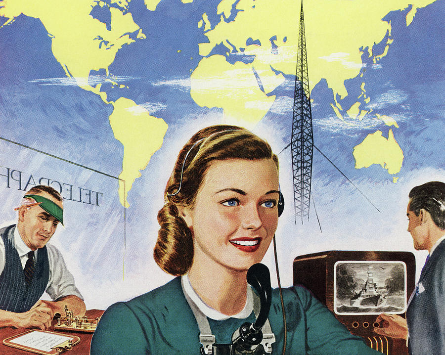 1940s Communication Technology Digital Art by Graphicaartis