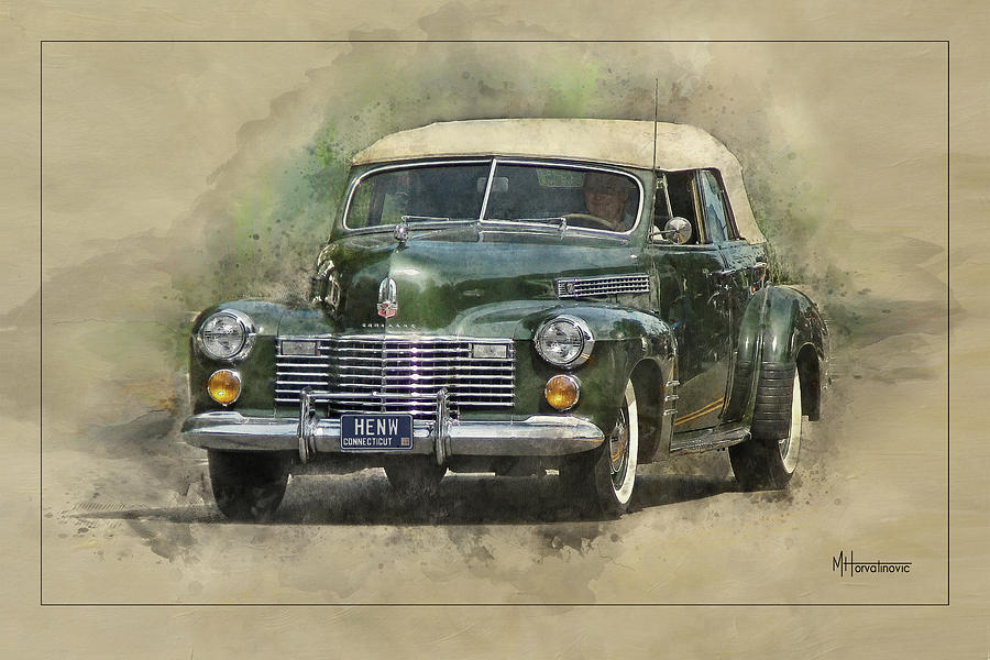 Illustration Digital Art - 1941 Cadillac Series 62 4-door Convertible by Matt Horvatinovic