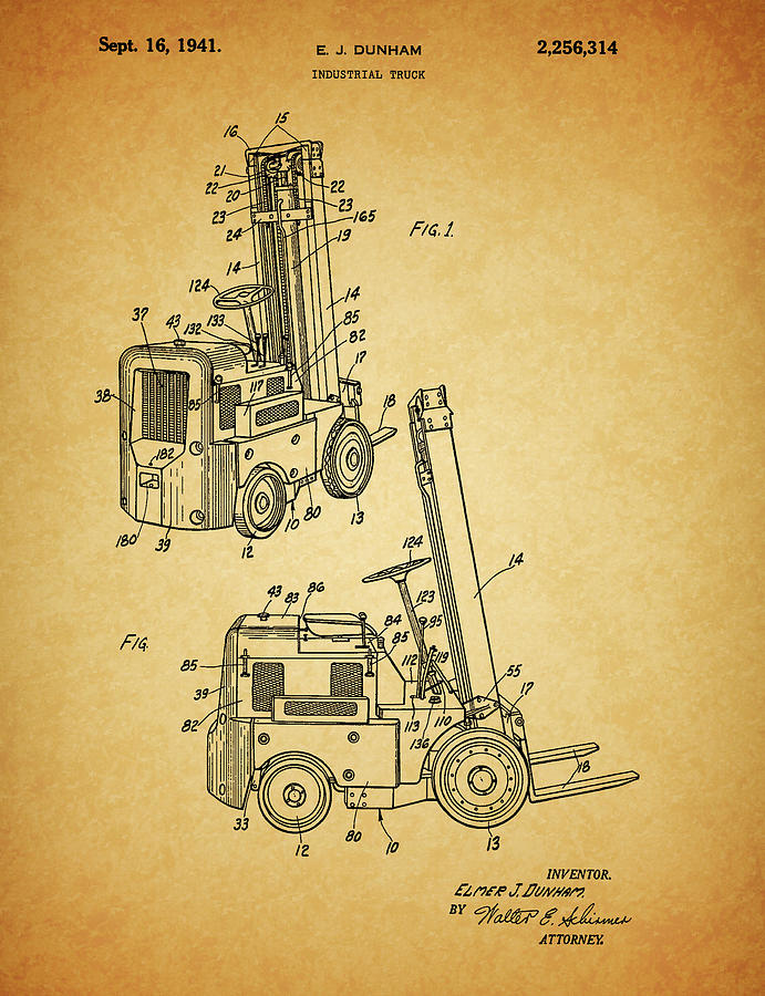 Lift Truck Drawing - 1941 Lift Truck by Dan Sproul