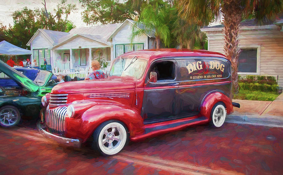 1946 Chevy Sedan Panel Delivery truck 203 by Rich Franco