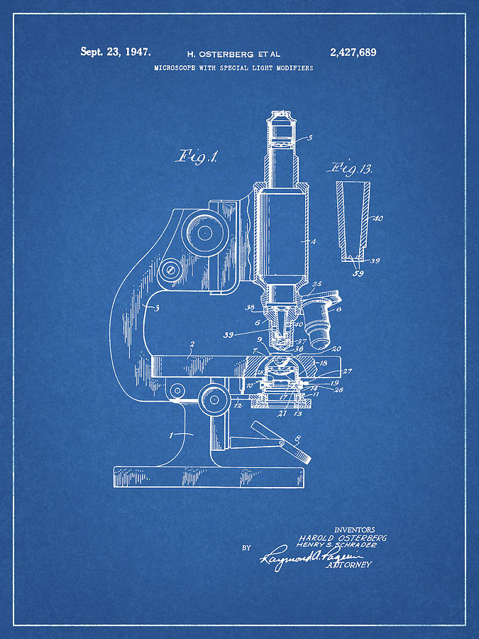 1947 Microscope Patent  by Dan Sproul