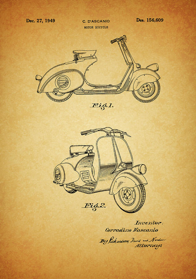 1949 Vespa Patent by Dan Sproul