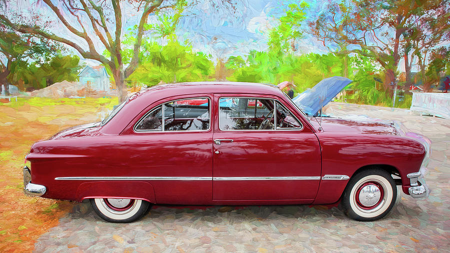 1950 Ford Deluxe 2-Door Club Coupe 204 by Rich Franco