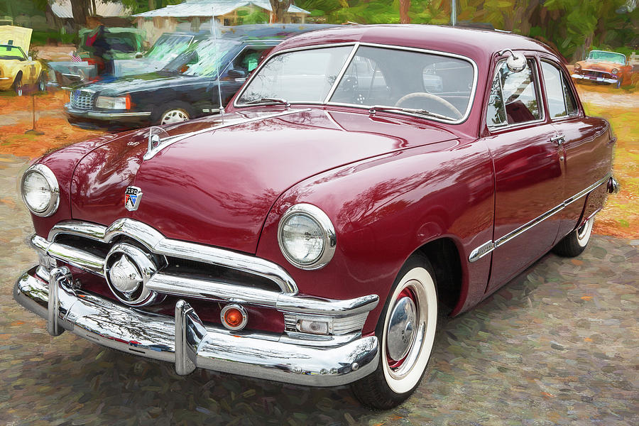 1950 Ford Deluxe 2-Door Club Coupe 211 by Rich Franco