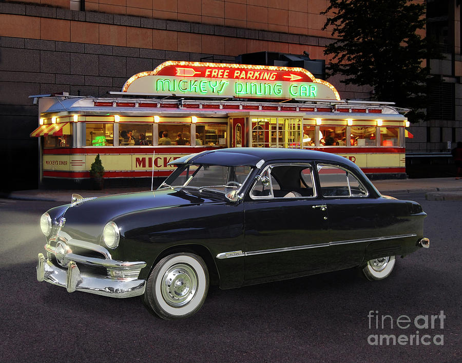 1950 Ford, Mickeys Diner Photograph