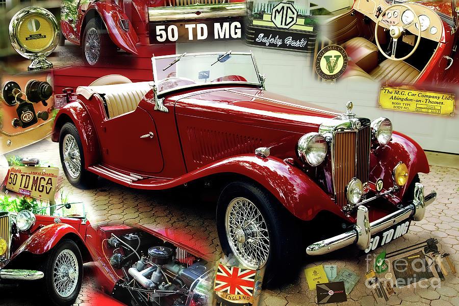 1950 MG TD by Charles Abrams