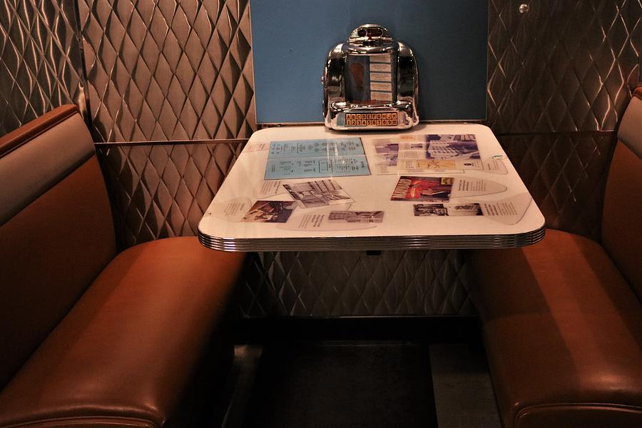 1950s Diner Booth by Christopher James