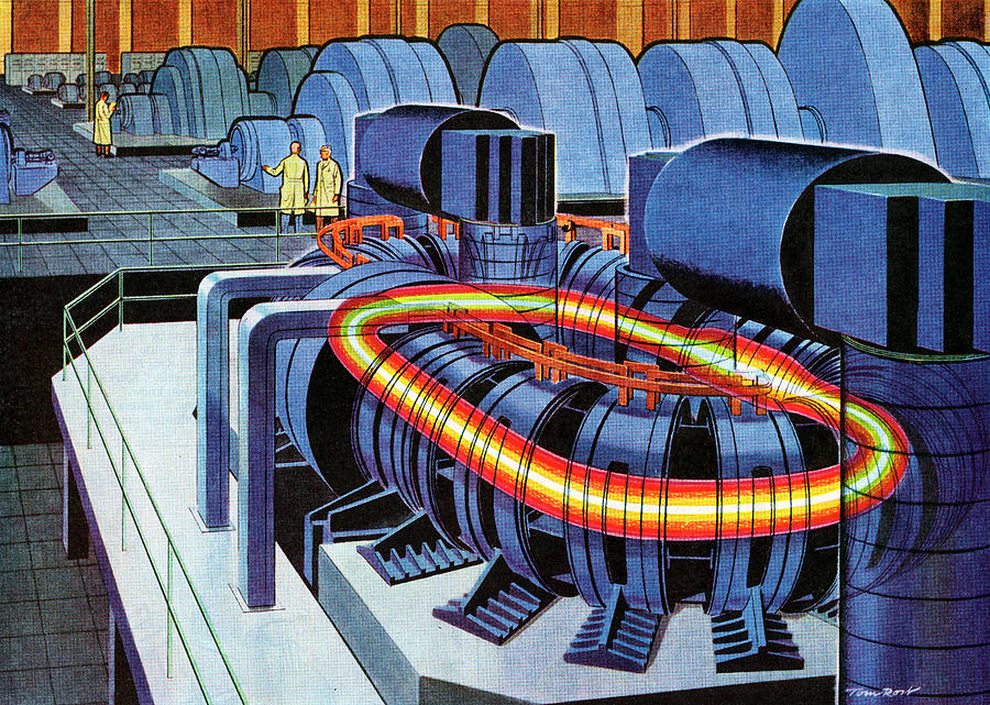 1950s Nuclear Fusion Reactor Photograph by Graphicaartis