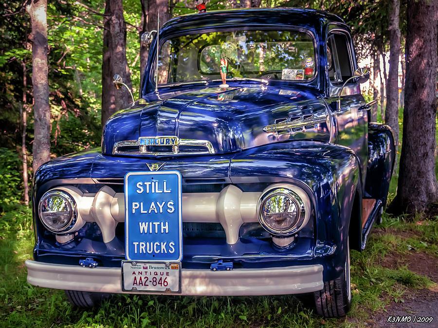 1951 Photograph - 1951 Mercury Pickup Truck by Ken Morris