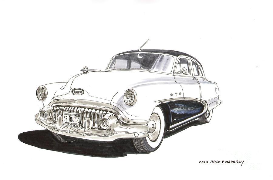 1952 Buick Special 4 Door Drawing