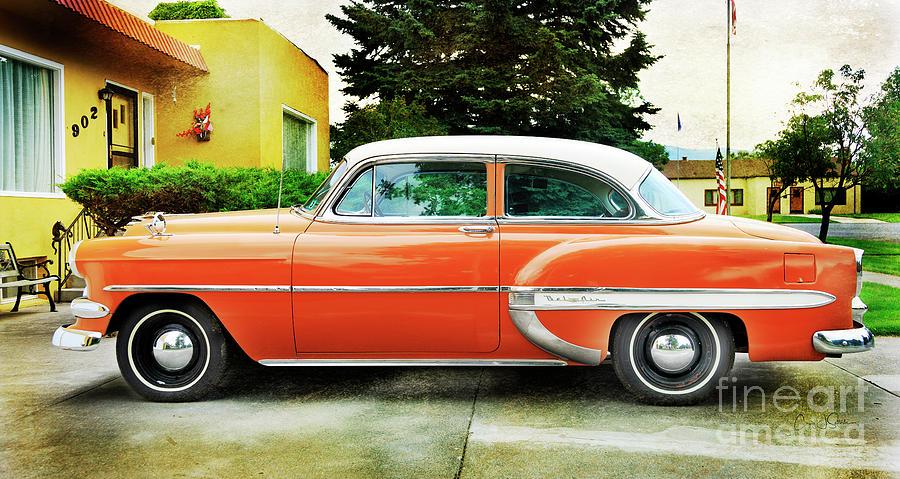 1954 Belair Chevrolet 2 by Craig J Satterlee