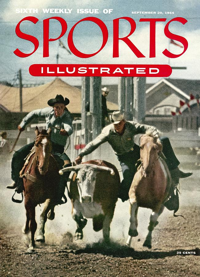 1954 Calgary Stampede Sports Illustrated Cover Photograph by Sports Illustrated