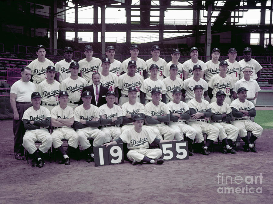 1955 Brooklyn Dodgers Photograph by Kidwiler Collection