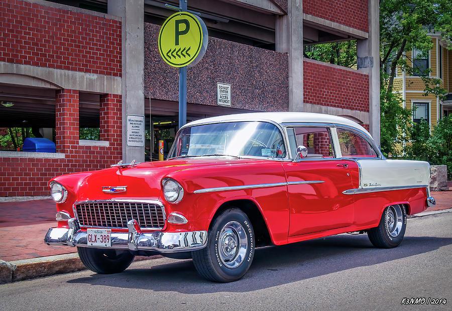 1955 Digital Art - 1955 Chevrolet Bel Air  by Ken Morris
