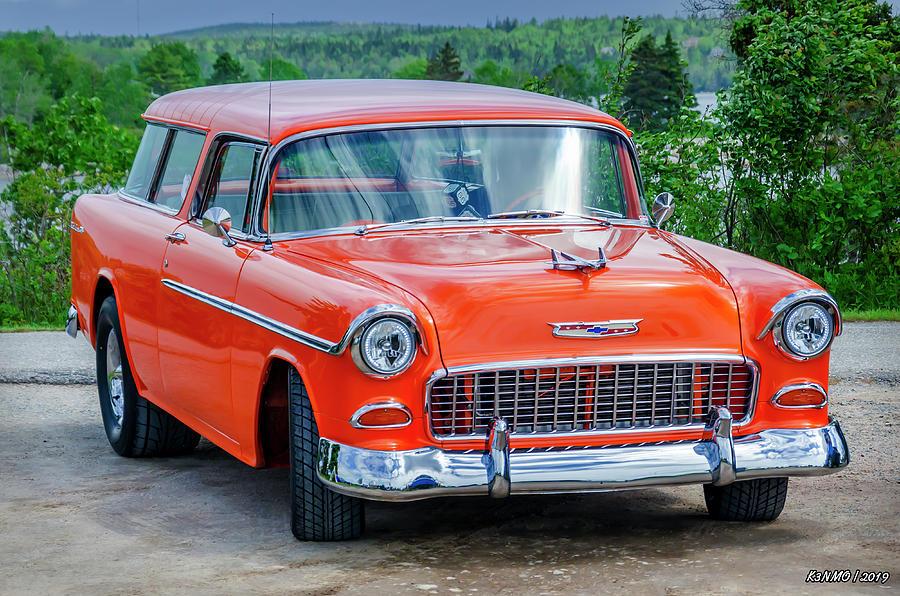 1955 Photograph - 1955 Chevrolet Bel Air Nomad by Ken Morris