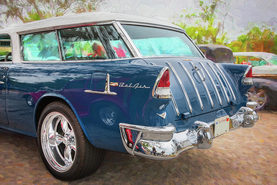 1955 chevrolet Bel Air Nomad Station Wagon 226 by Rich Franco