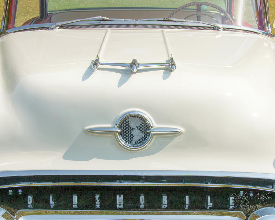 1955 Oldsmobile 88 Hood  by Kristia Adams