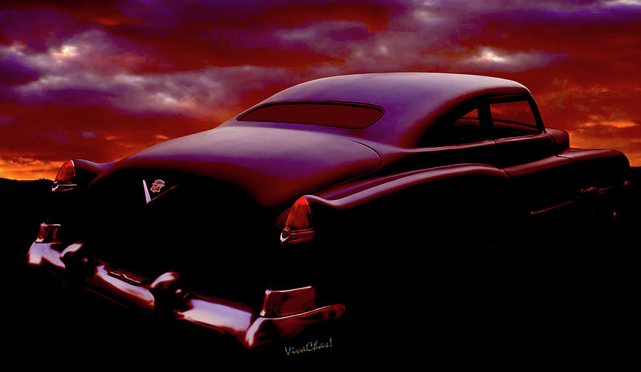 1956 Caddy Love Nest Sunset by Chas Sinklier