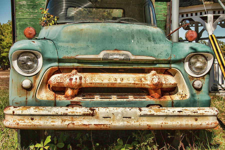 1956 Junkyard Chevy 6500 Front  by Kristia Adams