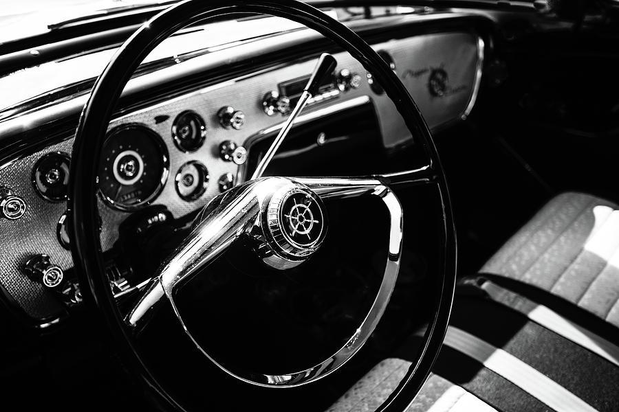1956 Packard Clipper Custom Touring Sedan Steering Wheel by Lauri Novak