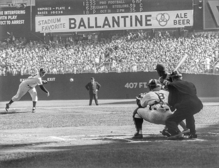 1956 World Series - Game 5  Brooklyn Photograph by The Stanley Weston Archive