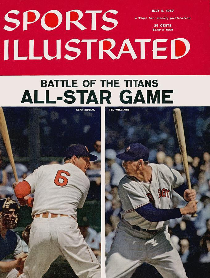 1957 All Star Game Preview Sports Illustrated Cover Photograph by Sports Illustrated