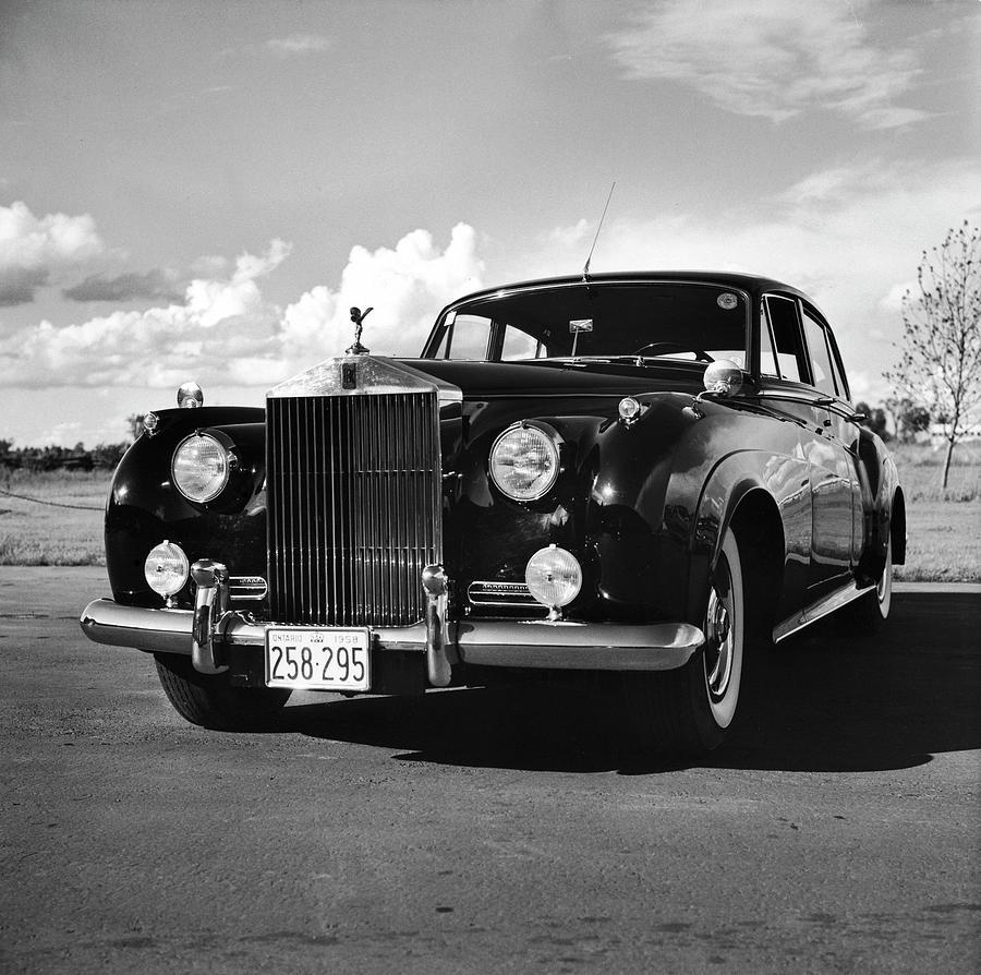 1957 Silver Cloud Rolls Royce Photograph by Walker Evans