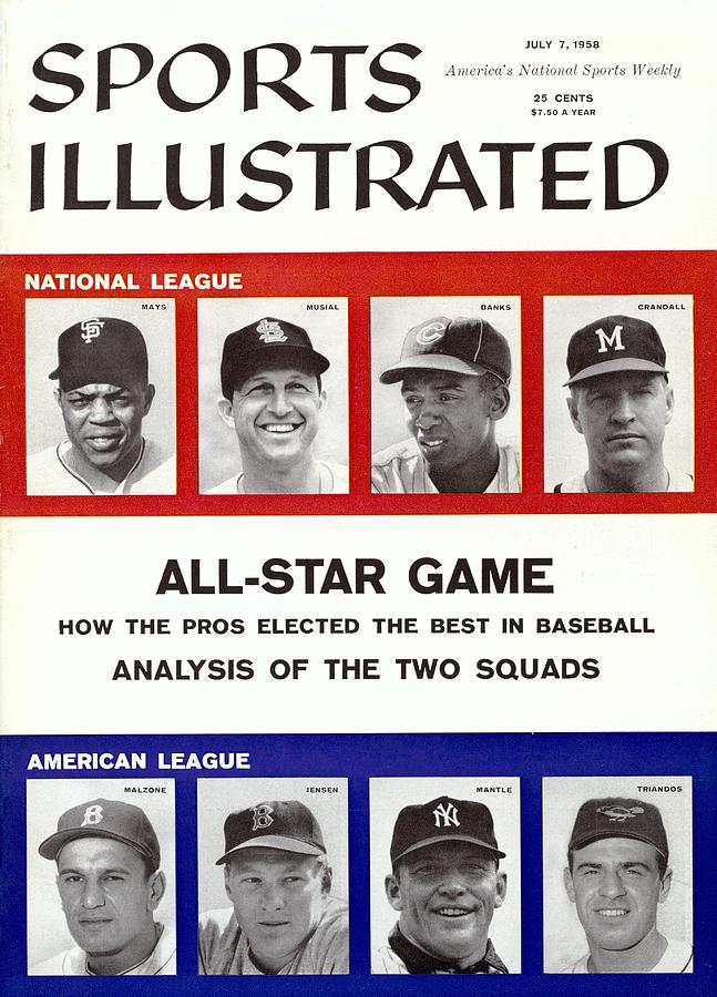 1958 All Star Game Preview Sports Illustrated Cover Photograph by Sports Illustrated