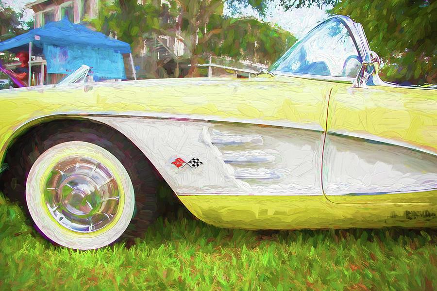 1958 Chevy Corvette  105 by Rich Franco