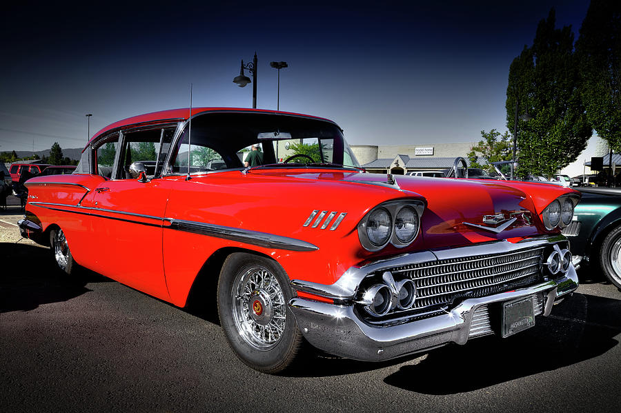 1958 Red Chevrolet Bel Air by David Patterson
