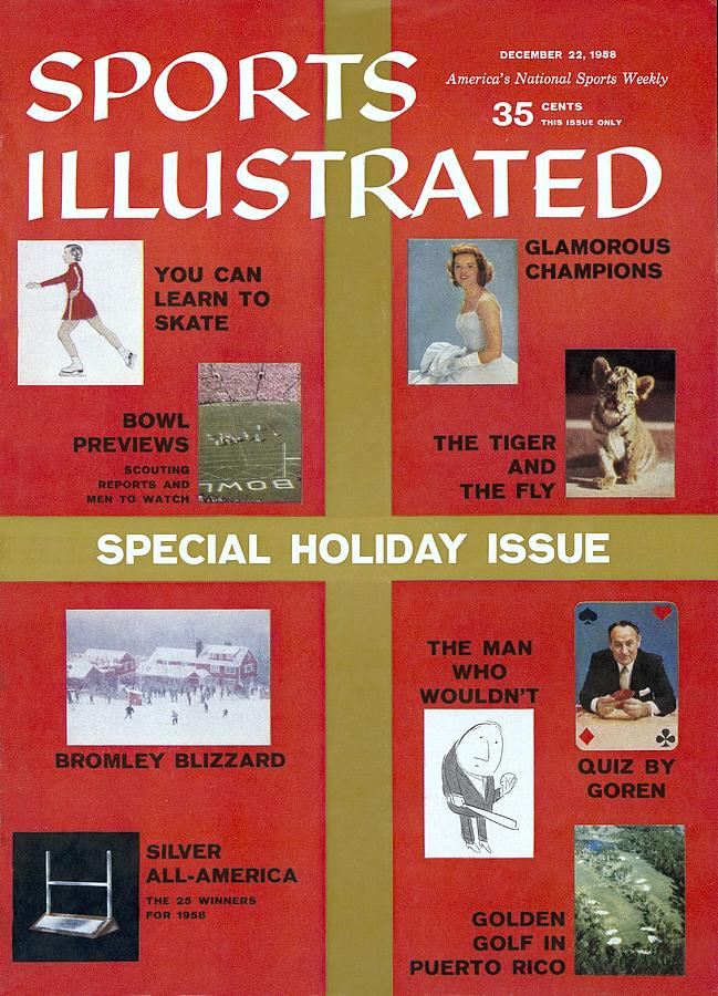 1958 Special Holiday Issue Sports Illustrated Cover Photograph by Sports Illustrated