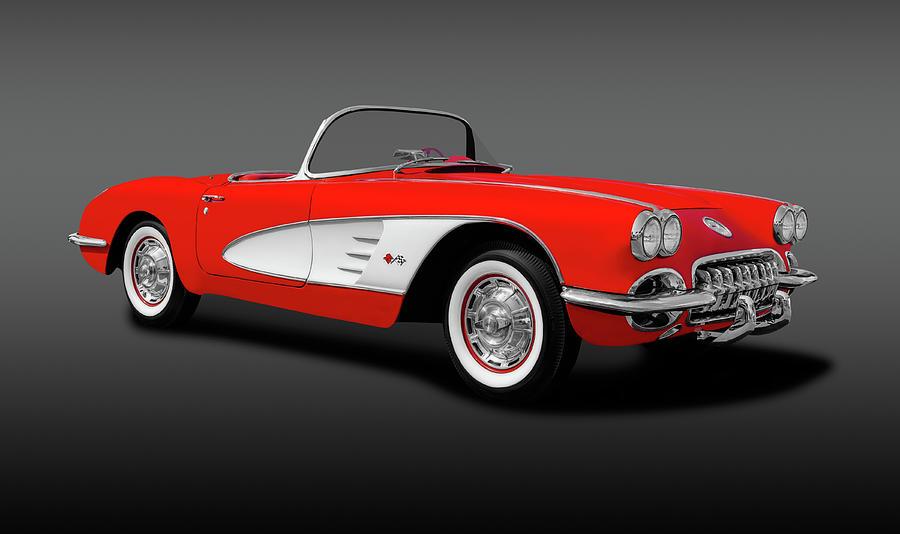 1959 Photograph - 1959 C1 Chevrolet Corvette Convertible  -  1959c1chevycorvetteconvertgray196674 by Frank J Benz