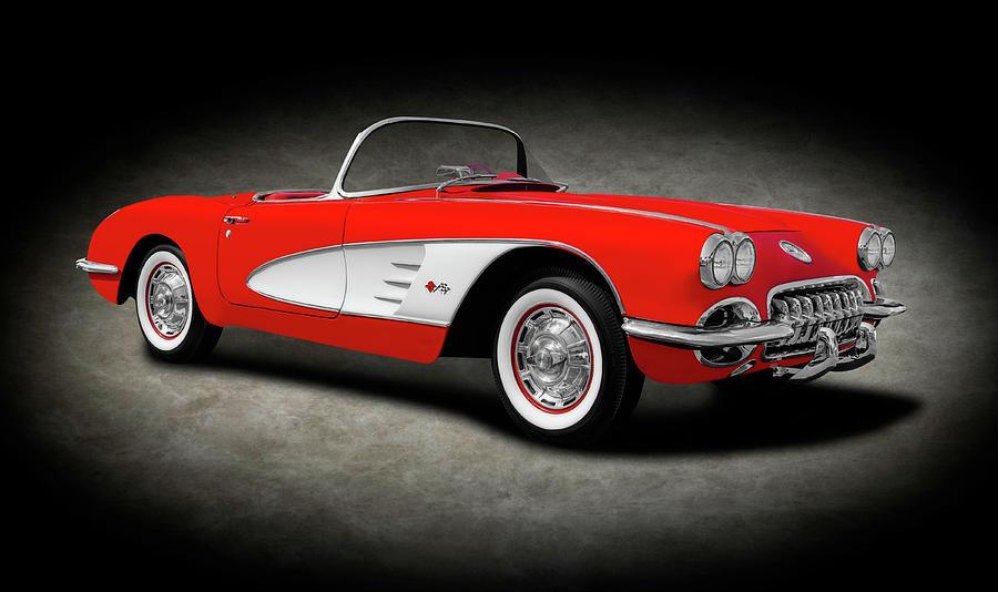 1959 Photograph - 1959 C1 Chevrolet Corvette Convertible  -  1959c1chevyvetteconverttexture196674 by Frank J Benz
