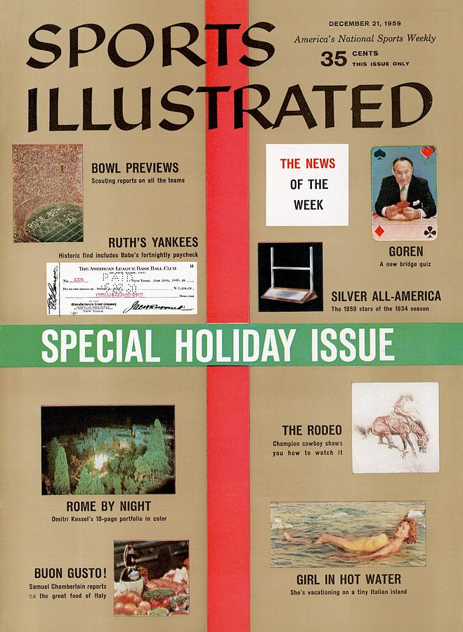 1959 Special Holiday Issue Sports Illustrated Cover Photograph by Sports Illustrated