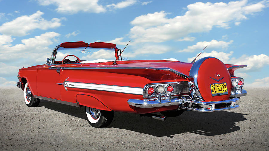 1960 Chevy Impala Convertible  by Mike McGlothlen