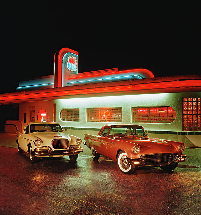 1960 Studebaker Hawk And 1957 Ford Photograph by Car Culture