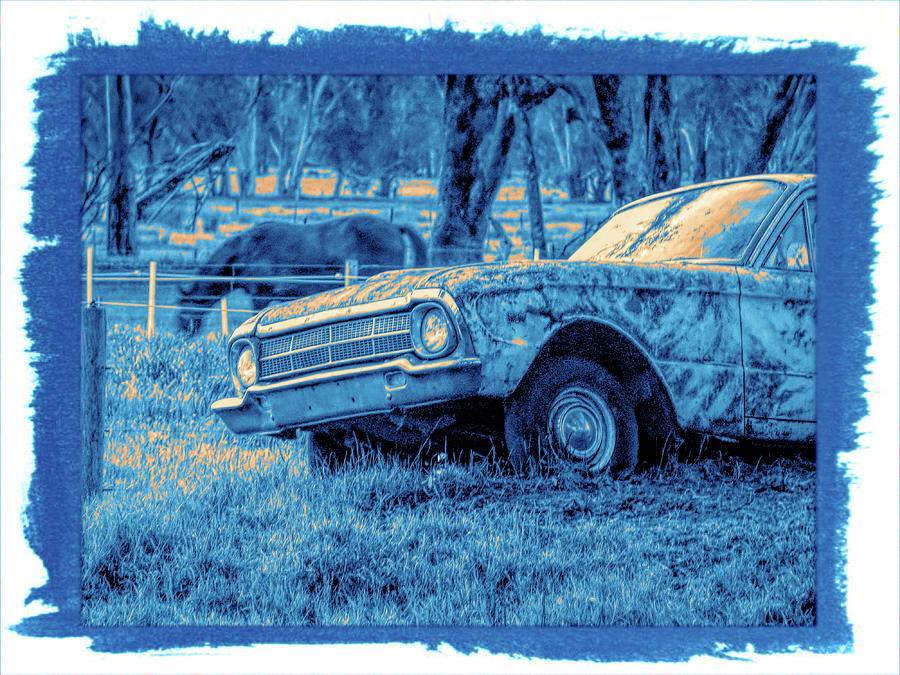 1960s Classic Ford Falcon Ute Blue by Joan Stratton