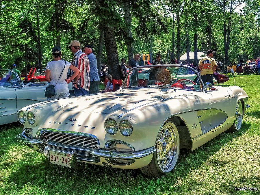 1961 Digital Art - 1961 Chevrolet Corvette 002 by Ken Morris