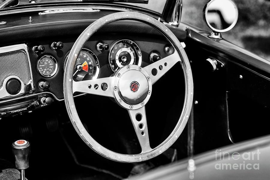 1961 MG MGA MK2 Interior  by Tim Gainey