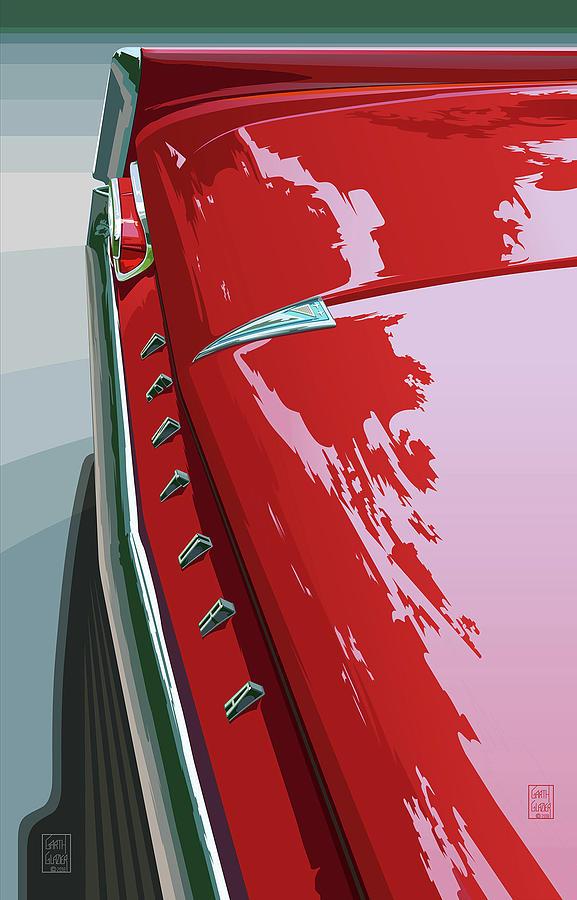 1961 Digital Art - 1961 Pontiac Ventura by Garth Glazier