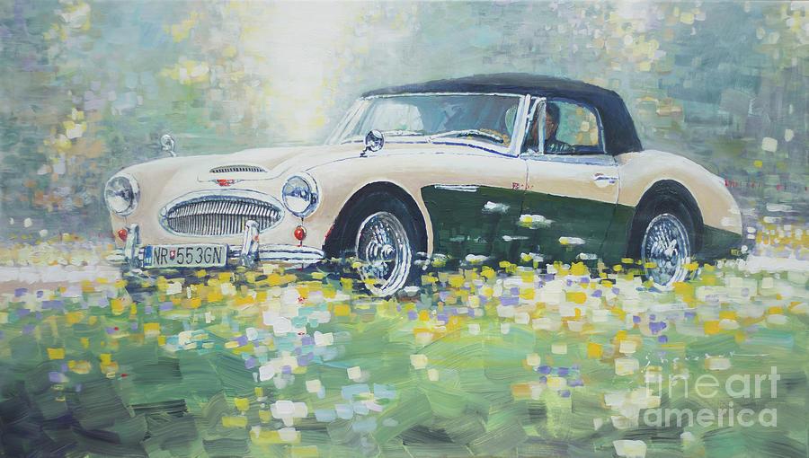 Automotive Painting -  1967 Austin Healey 3000 Mk I I I B J 8 by Yuriy Shevchuk