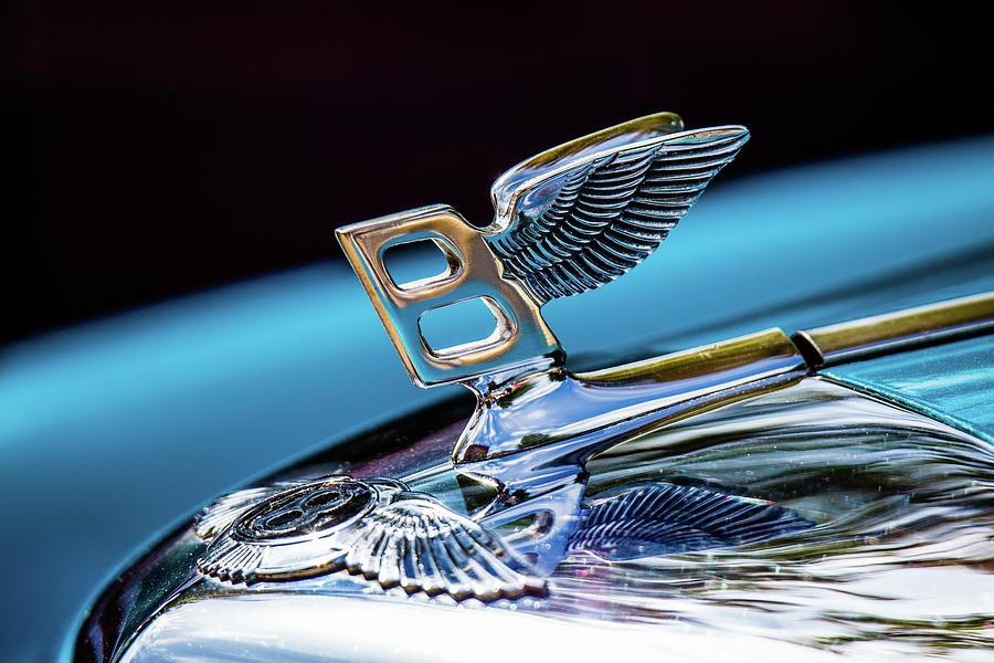 1963 Bentley Saloon Stand Steel Hood Ornament Color by Lauri Novak