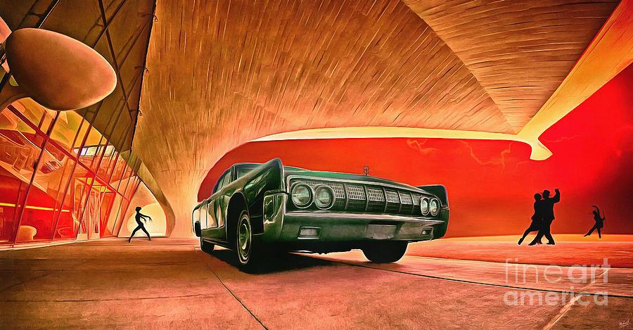 1963 Lincoln Continental Car Pop Art 1 by Nishanth Gopinathan