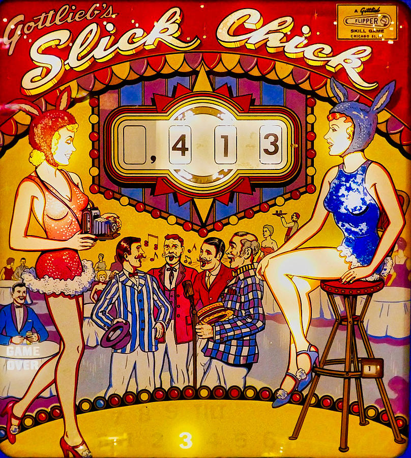 1963 Slick Chick Pinball Machine Photograph