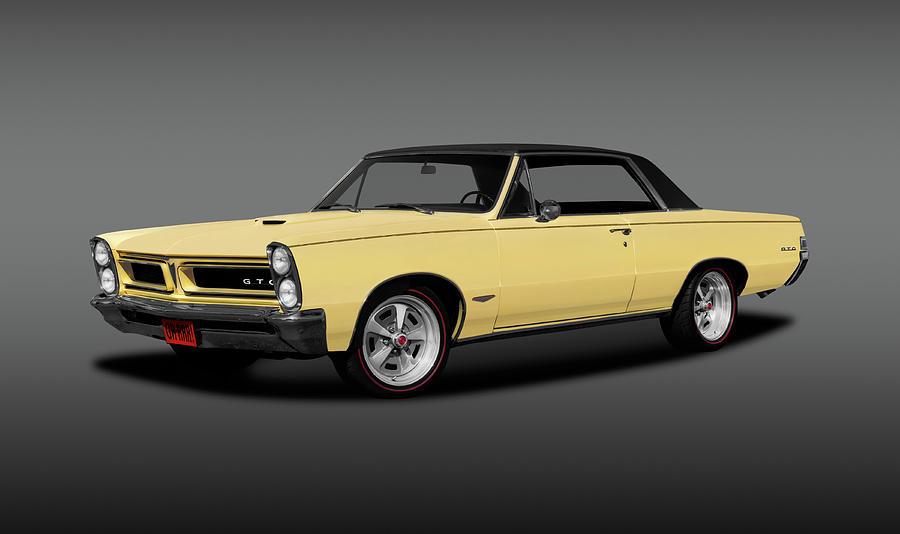 1965 Photograph - 1965 Pontiac Gto Coupe  -  1965pontiacgtohdtpgray196775 by Frank J Benz