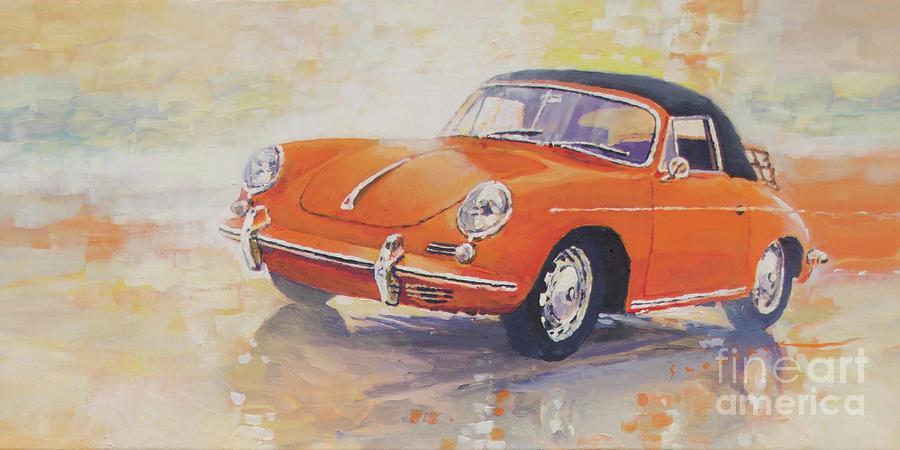 Automotive Painting - 1965 Porsche 356 C Cabriolet by Yuriy Shevchuk