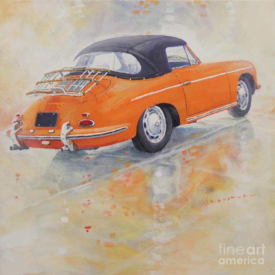 Automotive Painting - 1965 Porsche 356 C by Yuriy Shevchuk