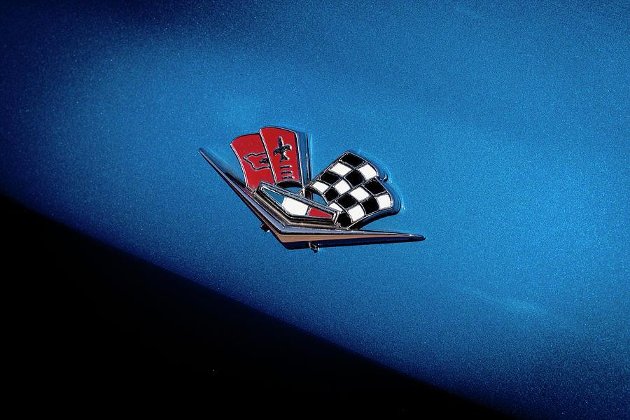 1966 Chevrolet Corvette Emblem 005  by Rich Franco