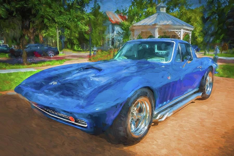 1966 Chevrolet Corvette Sting Ray x120  by Rich Franco